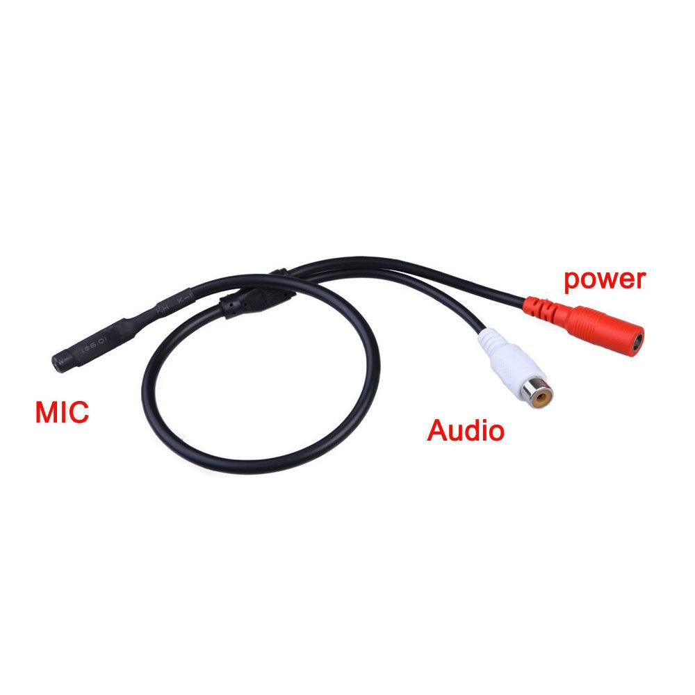 Microphone avec sortie RCA pour Caméra de Sécurité-12