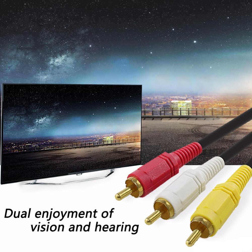 Câble vidéo AV RCA 1.5 Mètres pour lecteur DVD-21