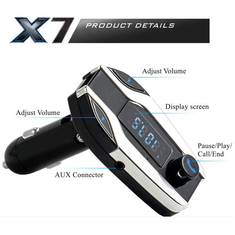 image X7 kit mains libres Bluetooth pour voiture multifonction 4
