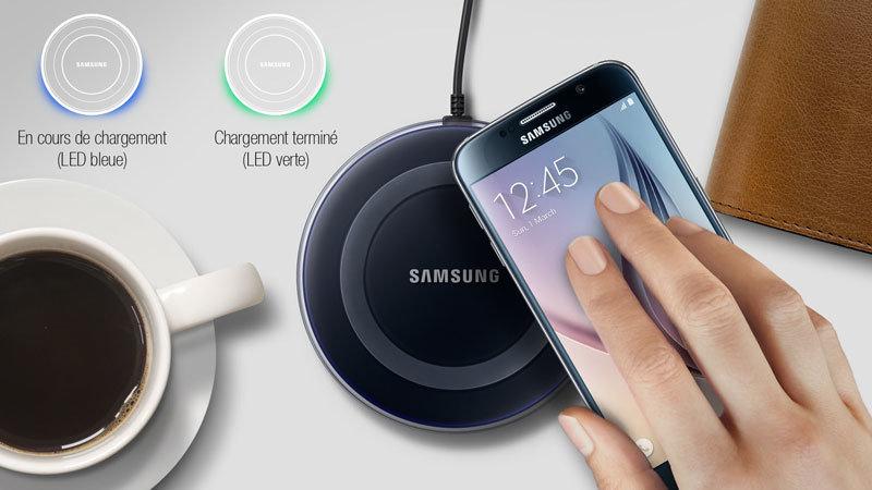 Accessoires-smartphone-Chargeur sans fil QI Station Samsung - blanc - 1