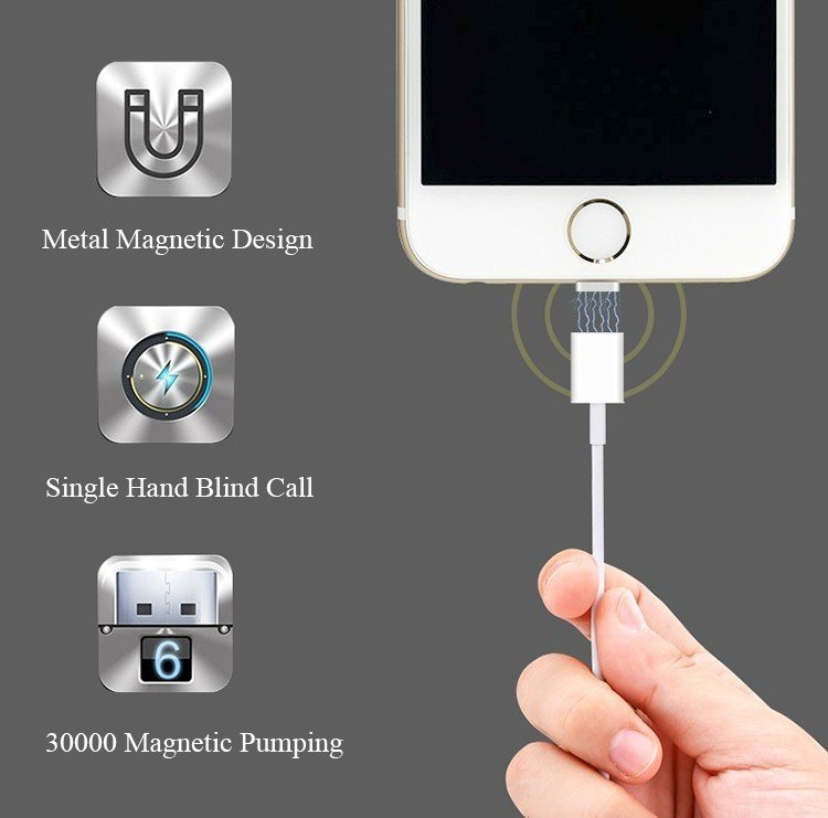 accessoire iphone - Câble Lightning magnétique pour iPhone - 12