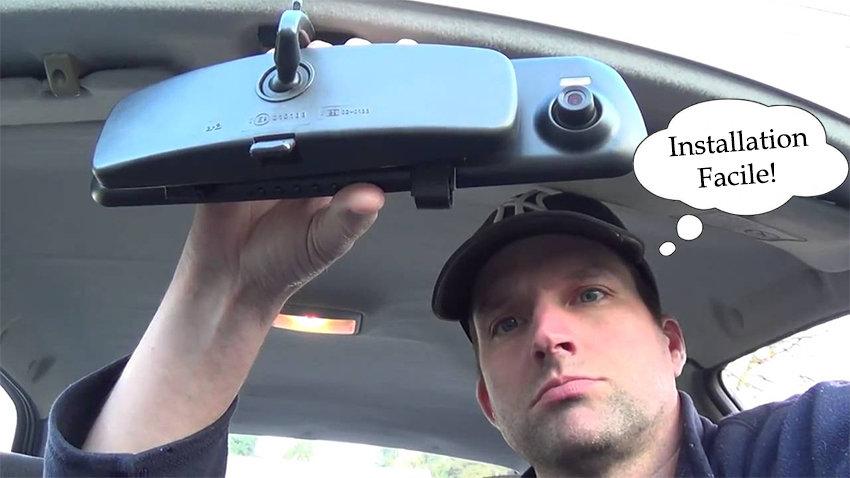 Dashcam avec camera avant et arrière - accessoire voiture
