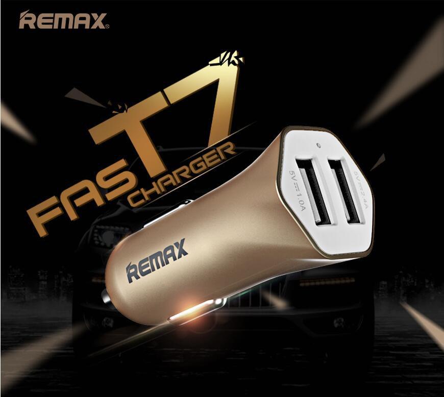 Chargeur voiture REMAX double USB pour smartphones et tablettes - 12