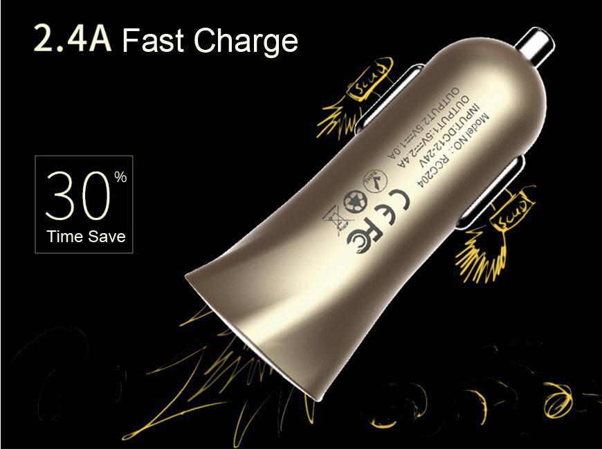Chargeur voiture REMAX double USB pour smartphones et tablettes - 11
