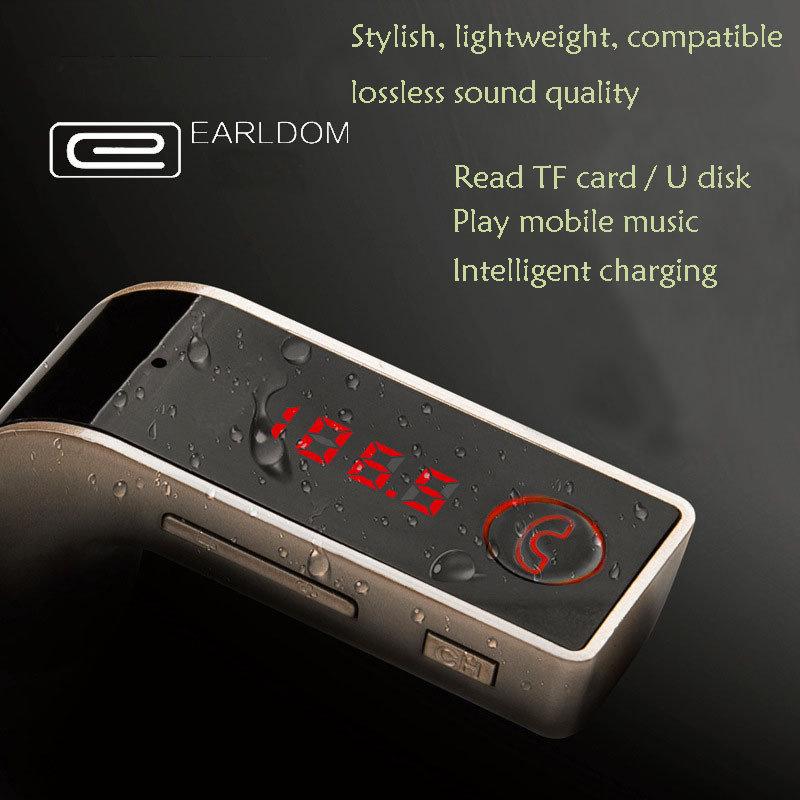 accessoire voiture - Kit main-libres Bluetooth, Mp3 et chargeur pour voiture EARLDOM original 12