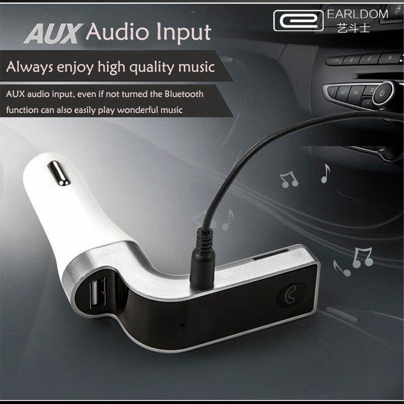 accessoire voiture - Kit main-libres Bluetooth, Mp3 et chargeur pour voiture EARLDOM original 13