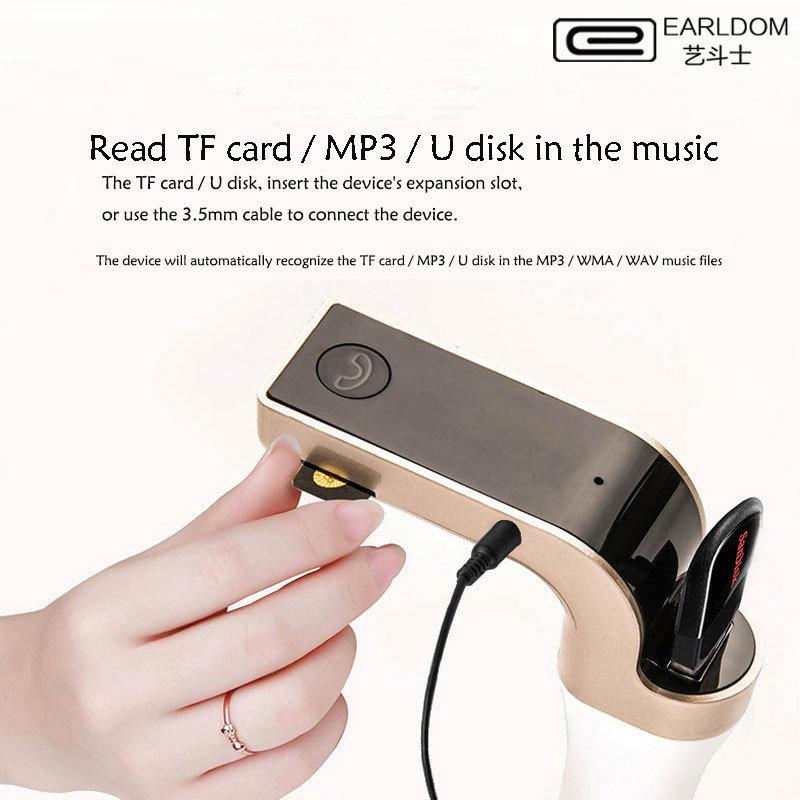 accessoire voiture - Kit main-libres Bluetooth, Mp3 et chargeur pour voiture EARLDOM original 14