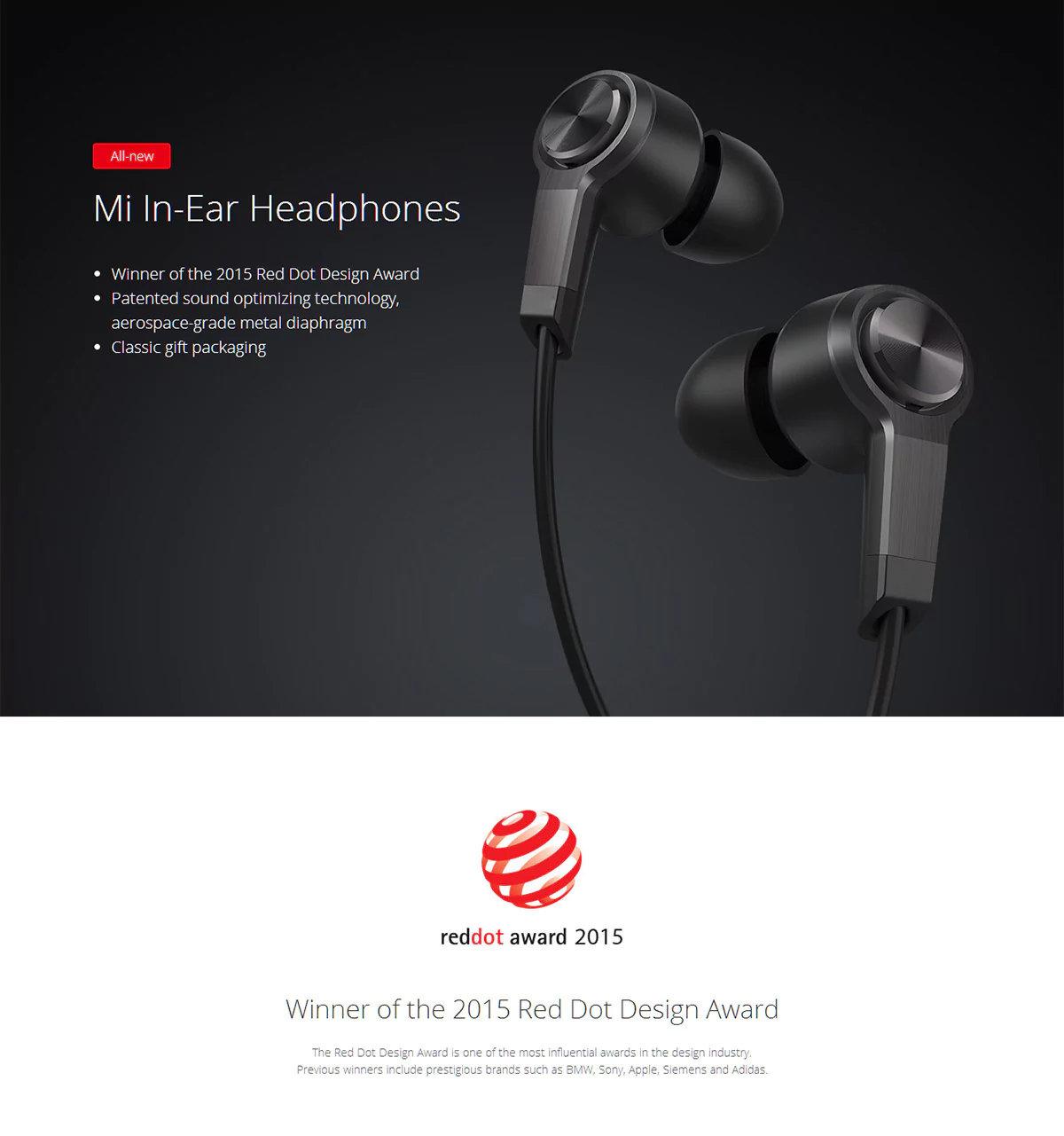 accessoires smartphones - Oreillettes XIAOMI Piston 3 Redot Design - 11