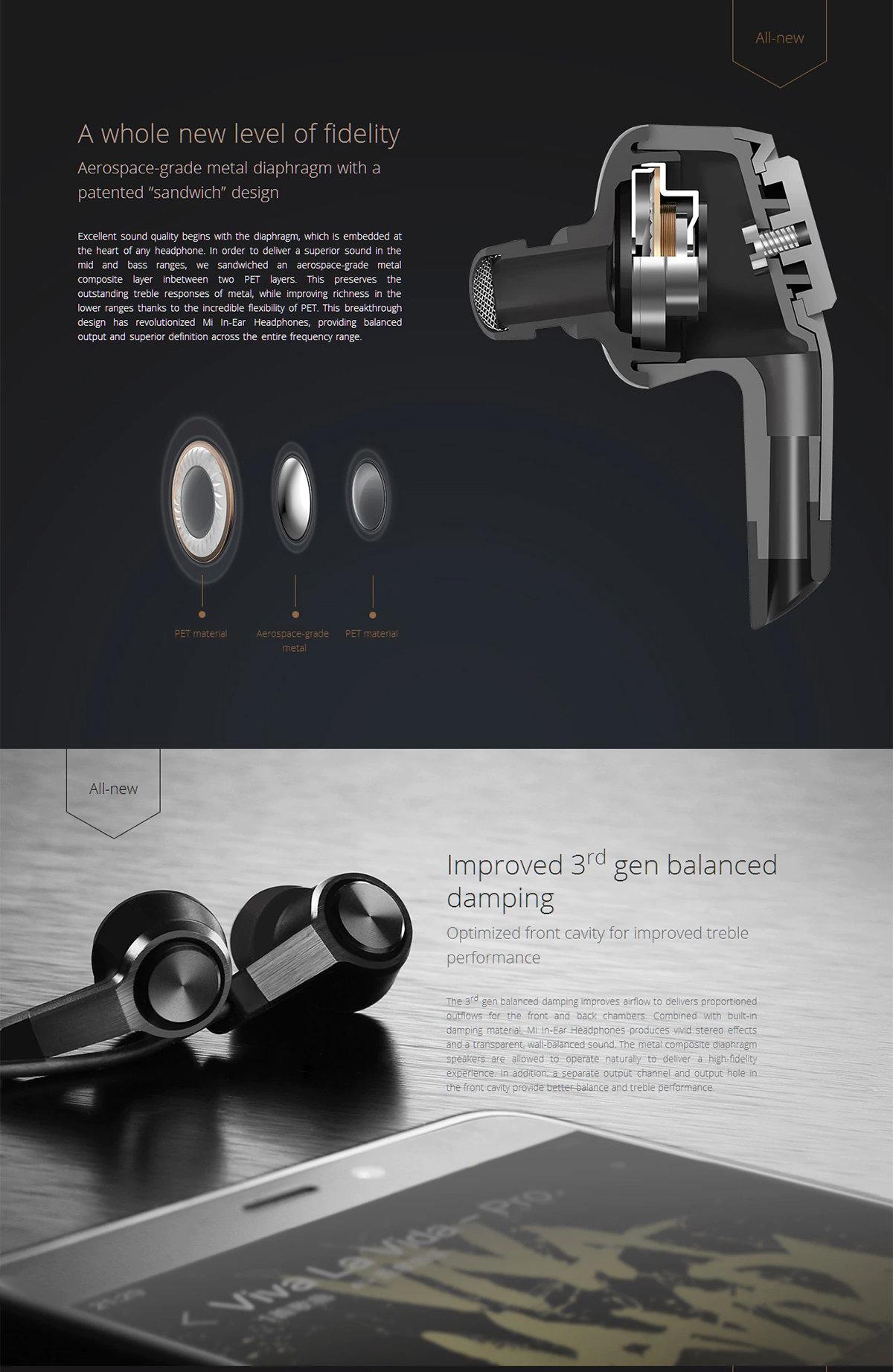 accessoires smartphones - Oreillettes XIAOMI Piston 3 Redot Design - 12