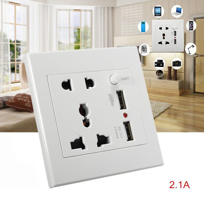 Prise électrique mural avec double port de recharge rapide USB pour les smartphones 11