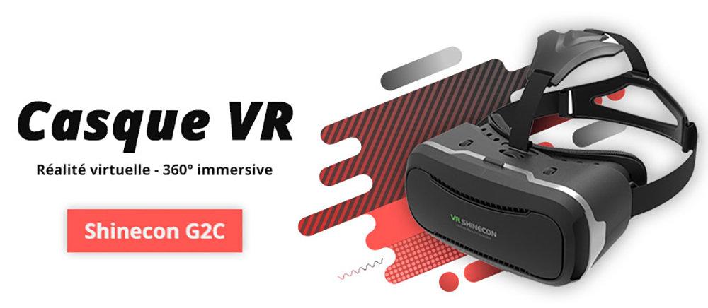 VR Shinecon G02C casque de réalité virtuelle compatible avec Google Cardboard 11