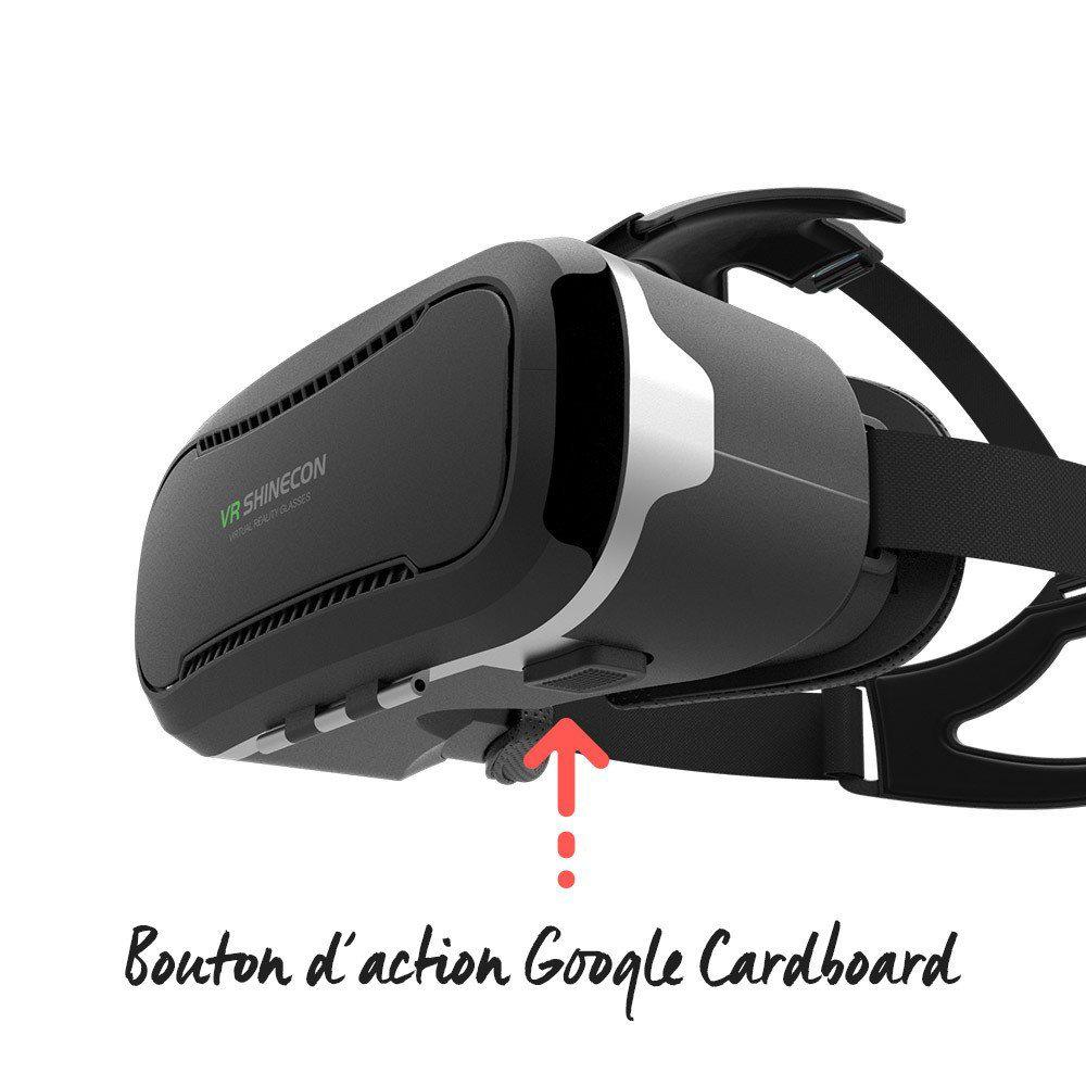 VR Shinecon G02C casque de réalité virtuelle compatible avec Google Cardboard 12