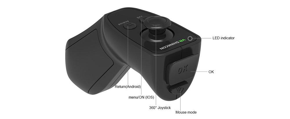 VR Shinecon SC-RA8 Contrôleur de jeu avec Bluetooth 12