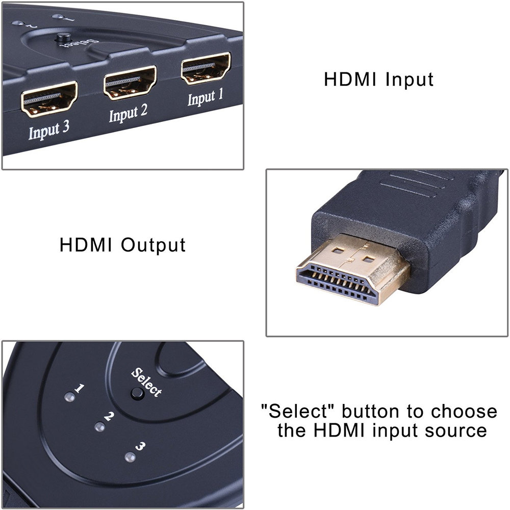 hdmi switch commutateur 3x1 - 11