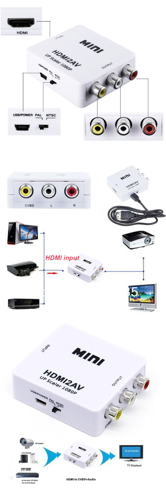 accessoire audi-video - convertisseur hdmi2AV 2