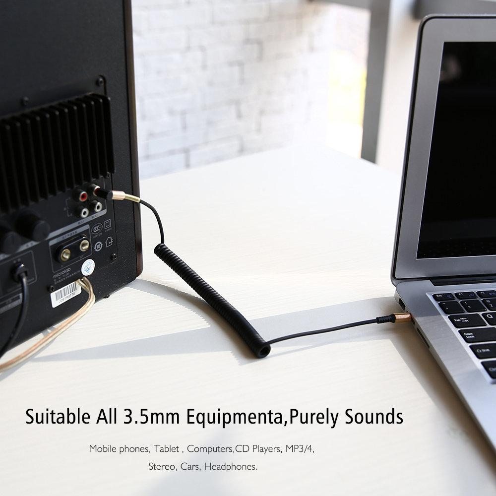 Câble flexible connecteur Jack Audio auxiliaire 3.5 mm - accessoire smartphone 11