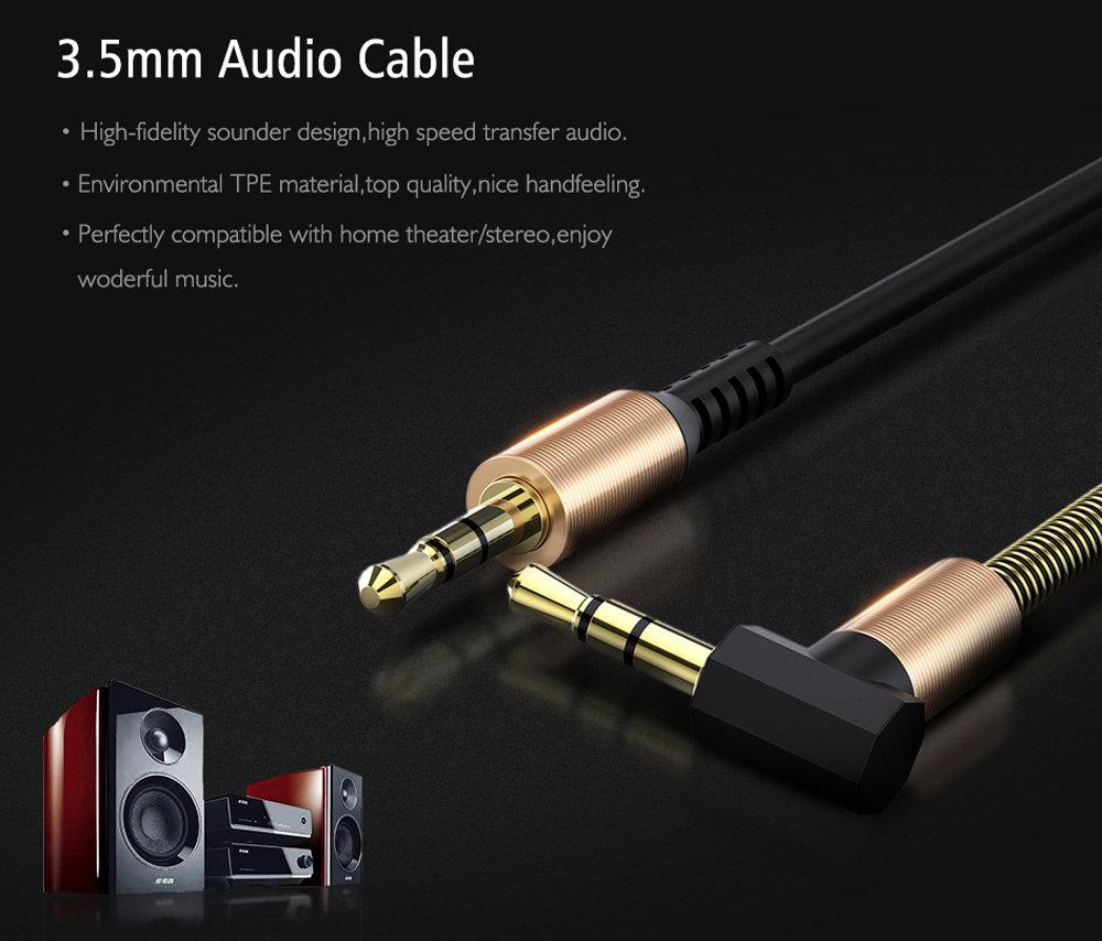 Câble flexible connecteur Jack Audio auxiliaire 3.5 mm - accessoire smartphone 110