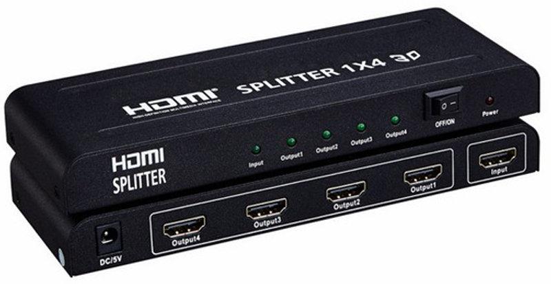 HDMI Splitter 1X4 avec adaptateur secteur