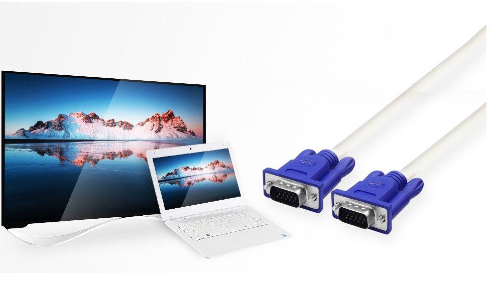 Câble d'ordinateur VGA Moniteur 15 Broches / 1.5m 11