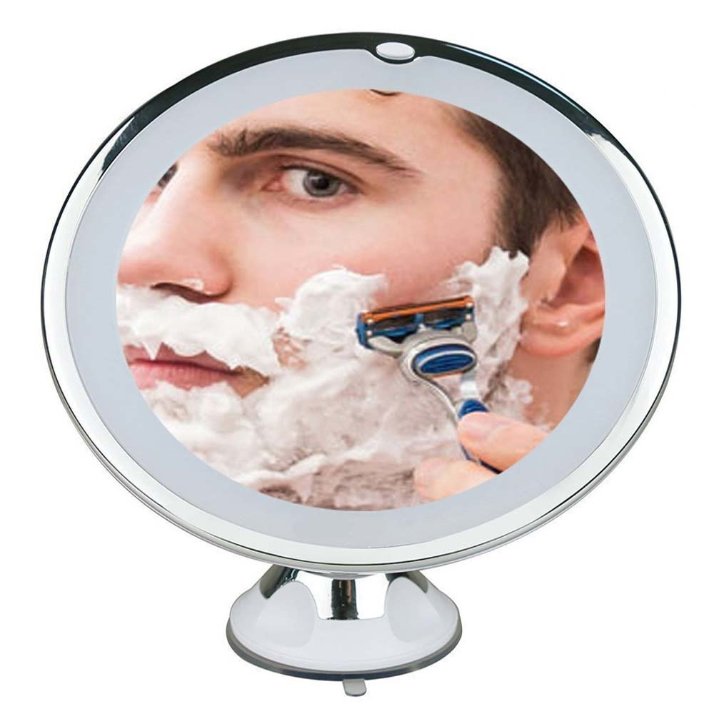 Miroir de maquillage LED 7X avec base d'aspiration pour le maquillage, rasage 14