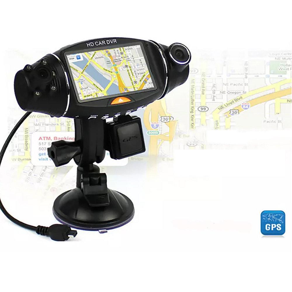 """Voiture DVR doubles Caméra 270 Degrés 2.7 """"Écran Infrarouge avec GPS Logger et G-Capteur 11"""