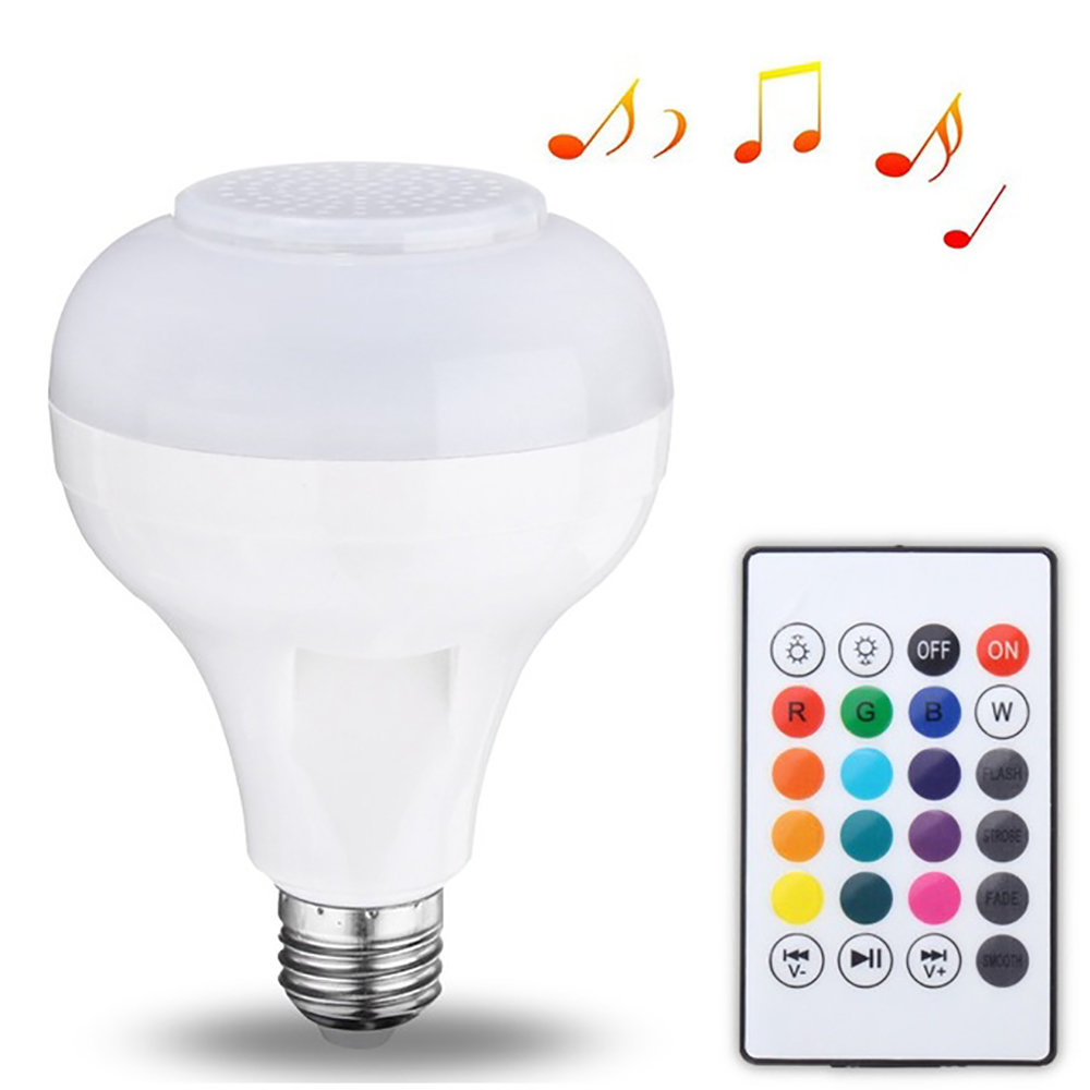Ampoule Bluetooth haut-parleur LED avec lumière musique radio + USB & Télécommande 11