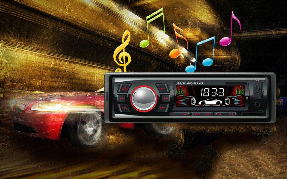 Poste radio pour voiture avec Carte SD/MMC, mp3, écran LCD 13