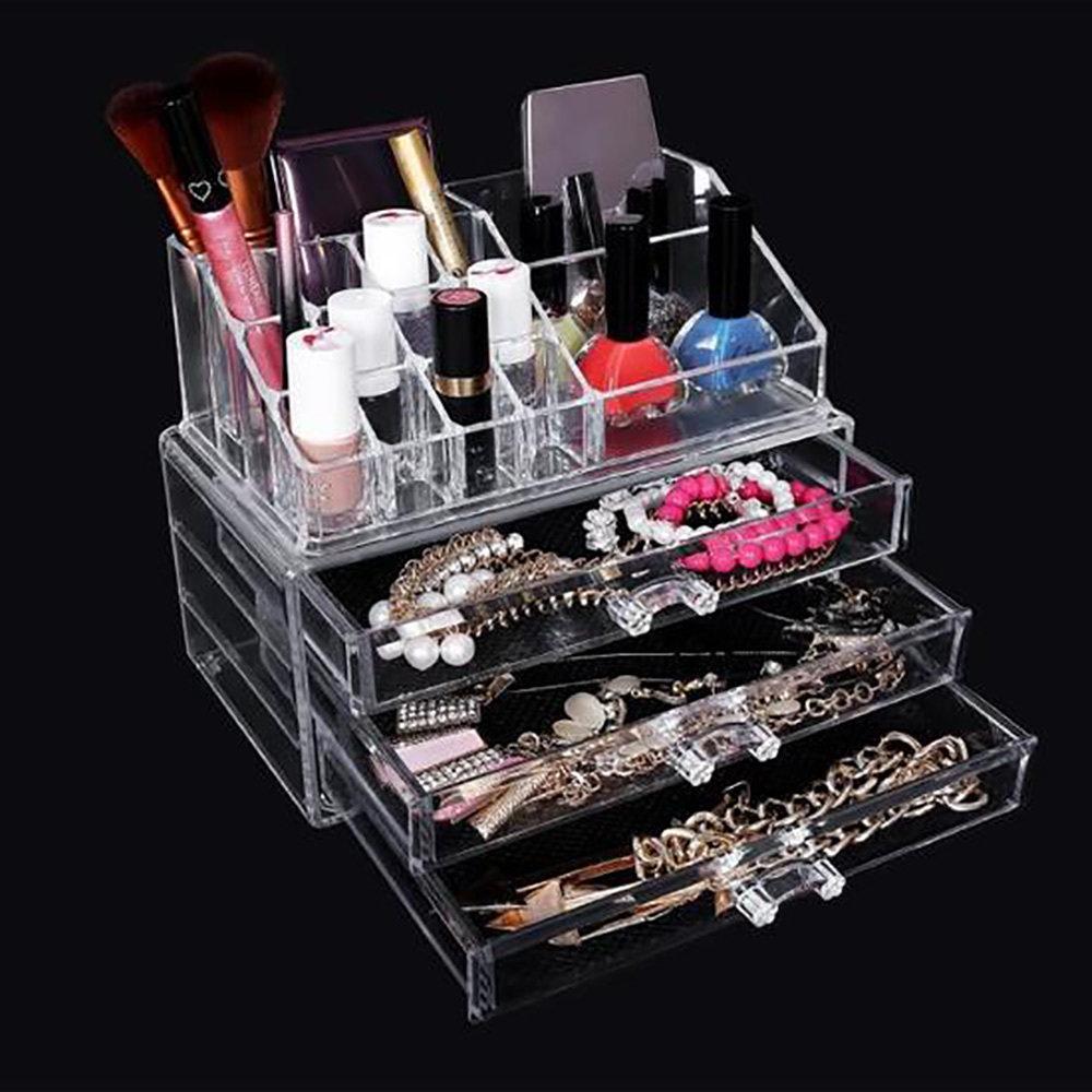 Rangement en acrylique transparent Pour Maquillage 2 en 1-11