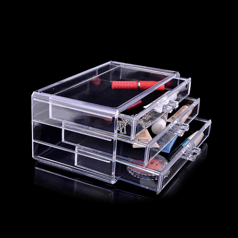 Rangement en acrylique transparent Pour Maquillage 2 en 1-12