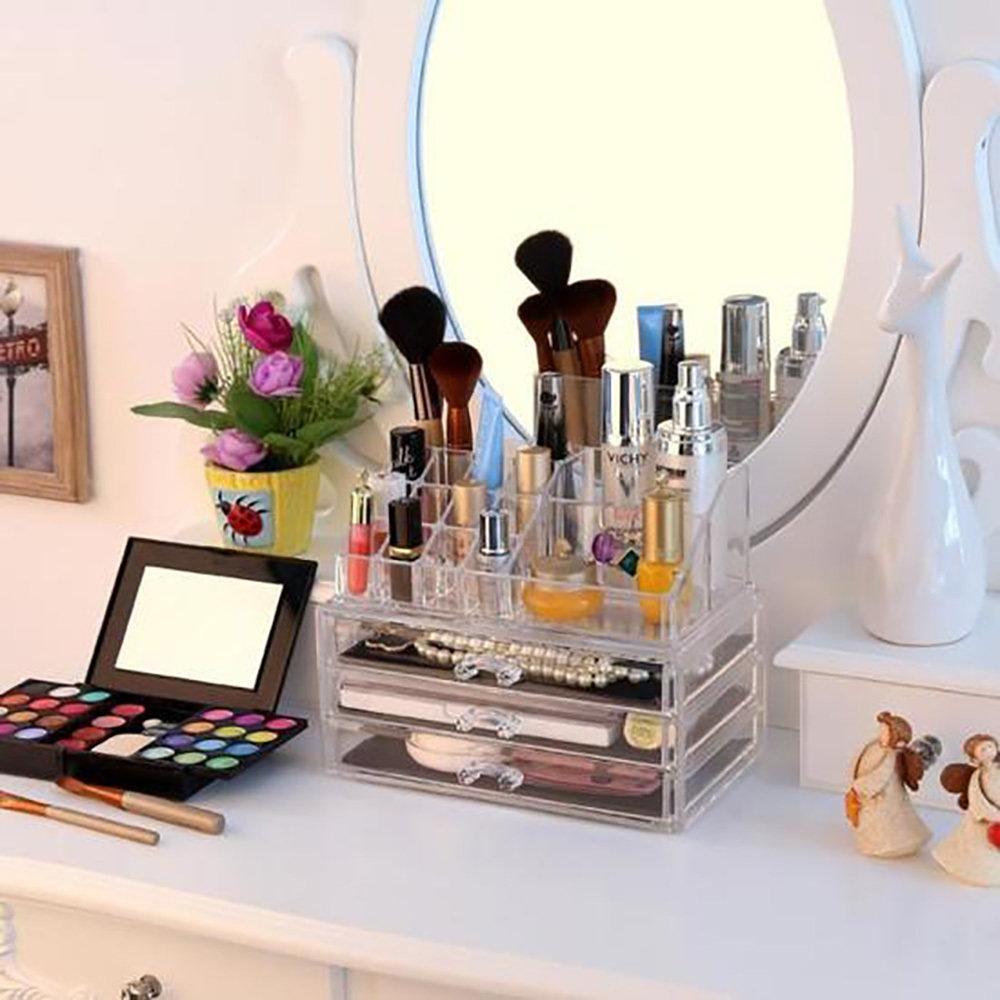 Rangement en acrylique transparent Pour Maquillage 2 en 1-13