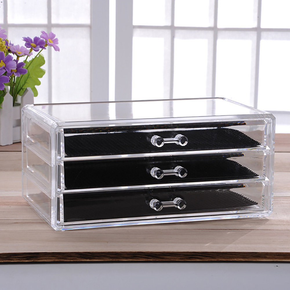 Rangement en acrylique transparent Pour Maquillage 2 en 1-14