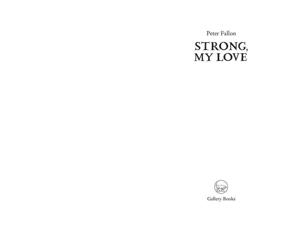 Strong my love peter fallon peter fallon finds beauty in a broken world strong fandeluxe Image collections