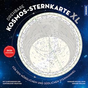 Große Kosmos Sternkarte XL, drehbar