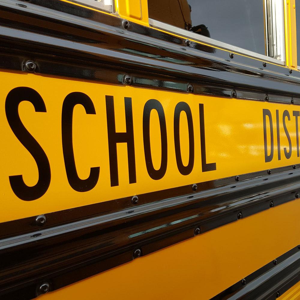 Sample Blue Bird Vinyl School Bus Lettering