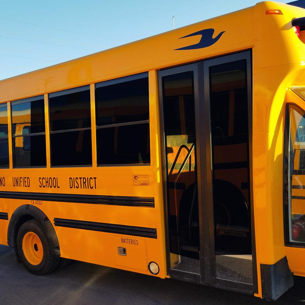 Micro Bird School Bus Lettering