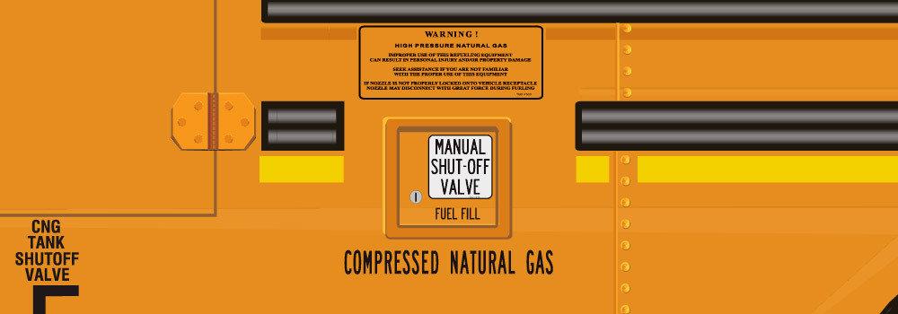 CNG Fuel Fill Identification