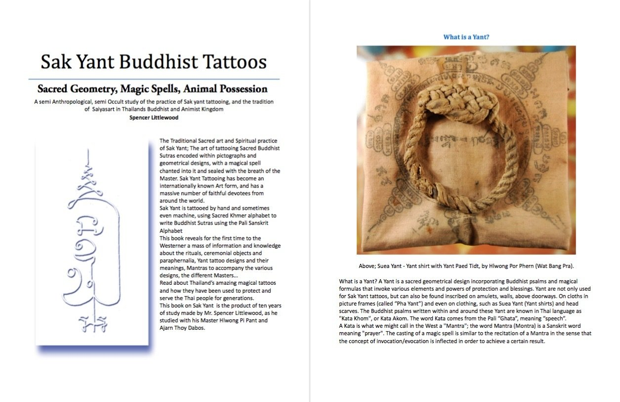Sak yant thai temple tattoos e book 300 pages magical tattoos and please note this is a digital download in ebook pdf format not a physical book the book is to be downloaded to your computer and read on computer or fandeluxe Gallery