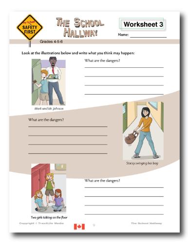 School Hallway Worksheet