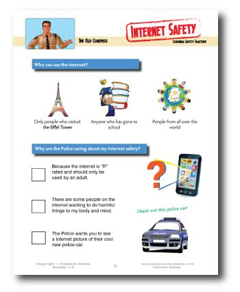 Internet Safety Activity Sheet