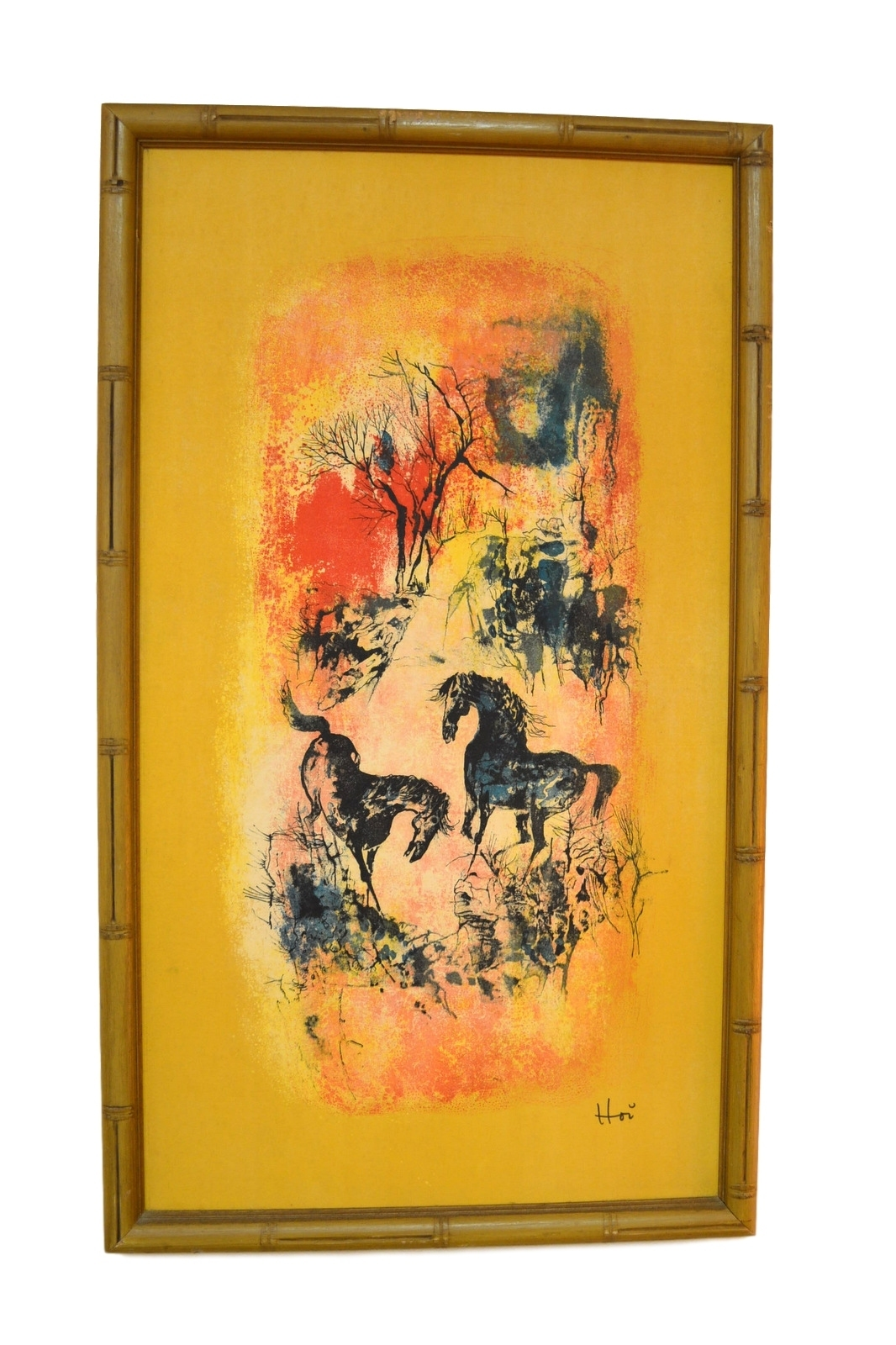 Suite Of 3 Hoi Lebadang Lithographs On Silk