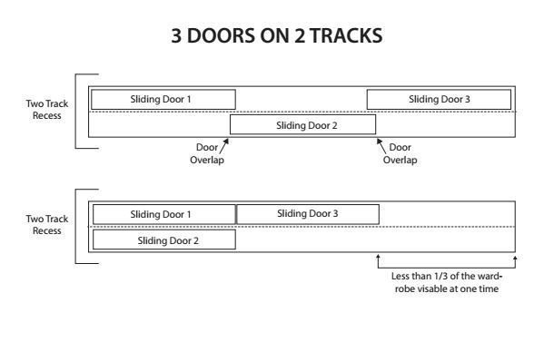 Premium Three Sliding Door System 2100mm to 2400mm on