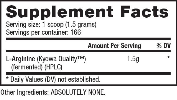 Nutrabio L-arginine Powder