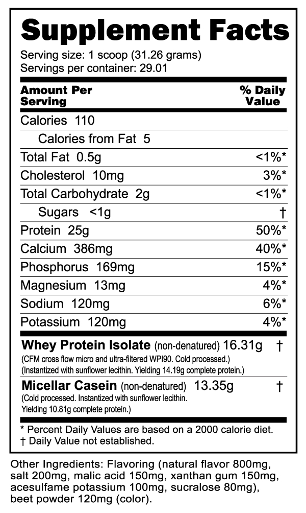 Muscle Matrix Protein 2 Lb - Strawberry Pastry
