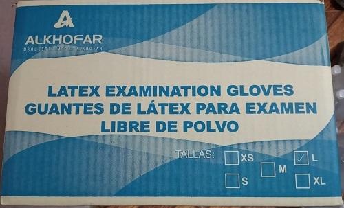 guantes de latex alkhofarma