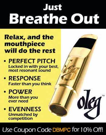 Downbeat Magazine Review of Oleg Contempo Alto Sax Mouthpiece