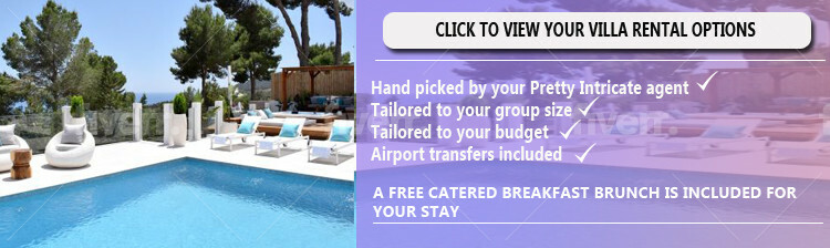 View your available villa rental options