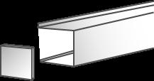 Caisson de rideau métallique Douville 3 ou 2 faces avec lambrequin et joues latérales en option