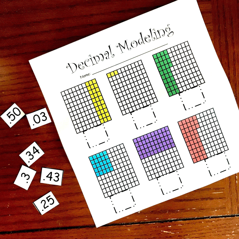 10 decimal cut and paste worksheets store. Black Bedroom Furniture Sets. Home Design Ideas