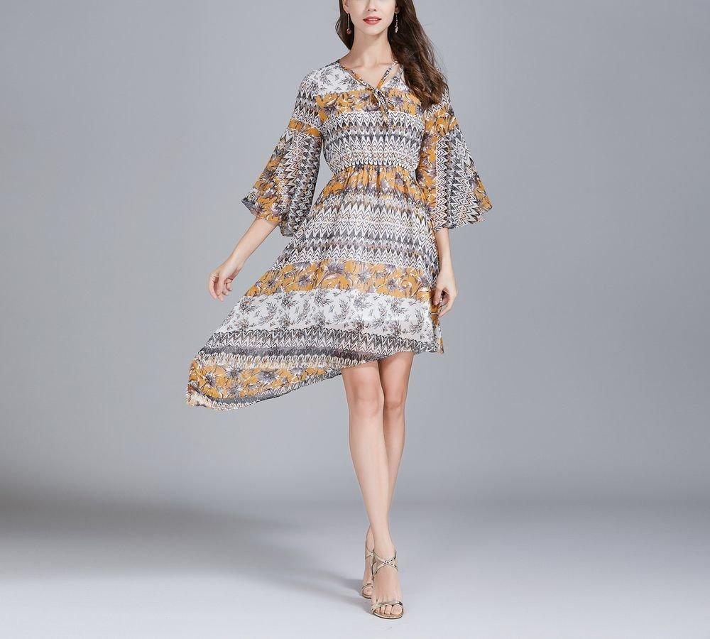 Boho Cocktail Dress in Chiffon