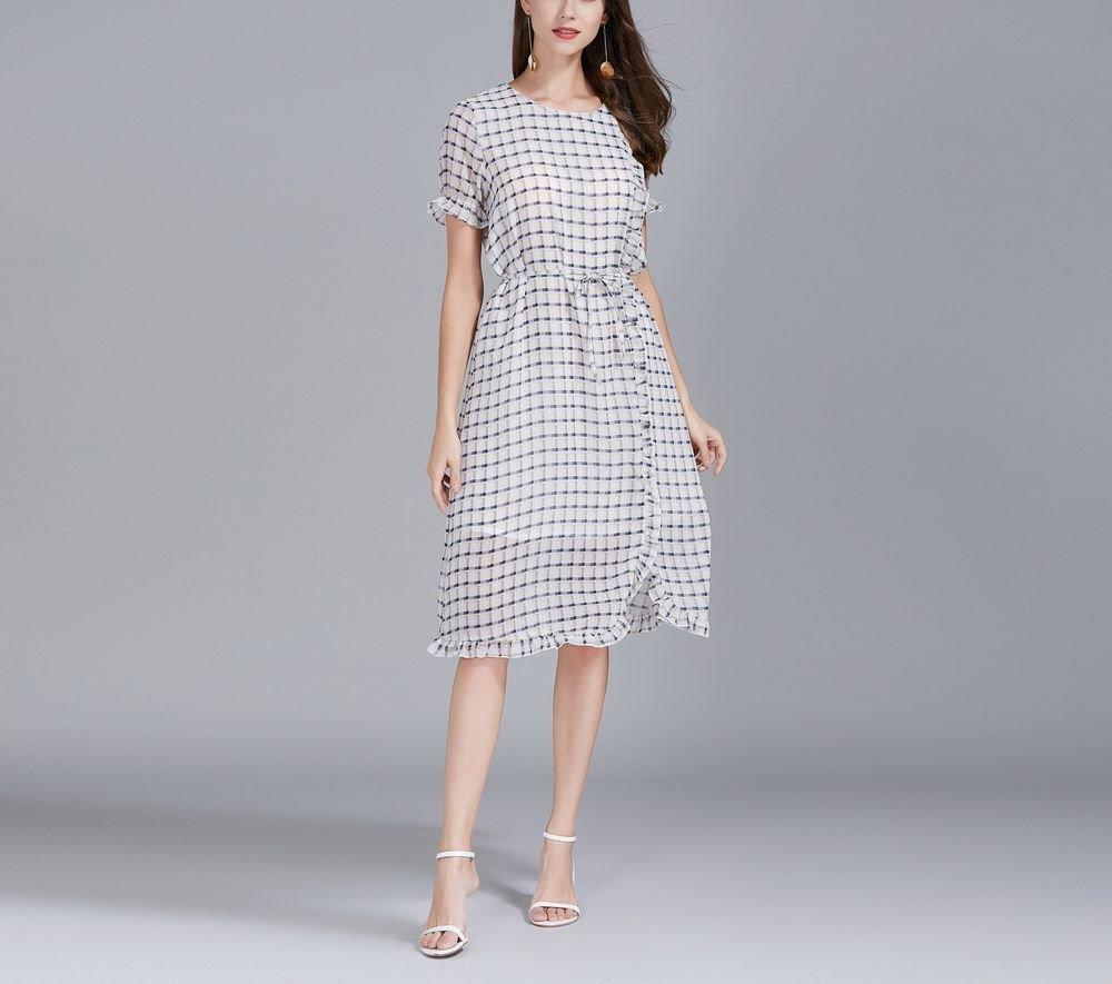Chiffon Stripe Short Formal Dress